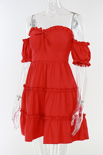 BLAIR DRESS IN RED
