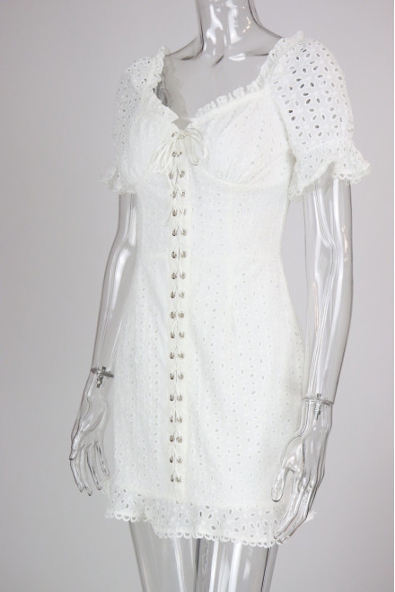 EVERLY DRESS IN WHITE