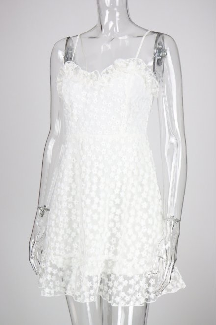 HALO DRESS IN WHITE