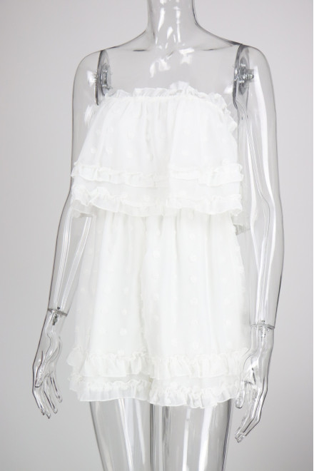 LYDIA PLAYSUIT IN WHITE