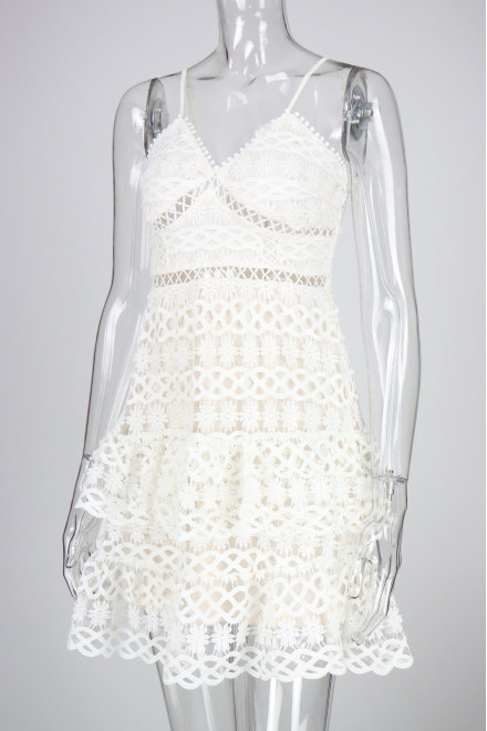 MELODY EMBROIDERY DRESS